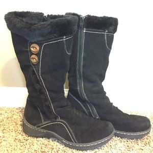BareTraps black fur winter boots high 8.5